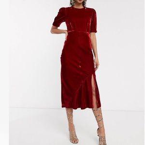 NWT Red Velvet midi dress!